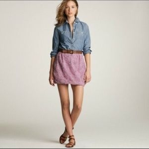 J Crew Lilac Floral Tulle Mini Skirt 6